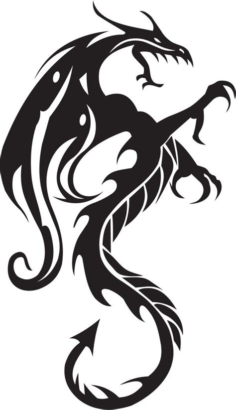 pattern drawing dragon patterns lines silhouette shape of a dragon graphics