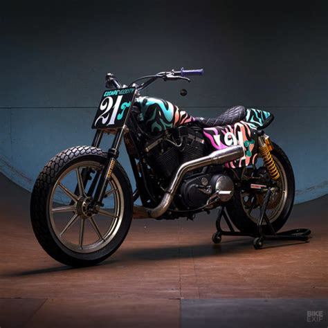 Harley Davidson Flat Tracker by Turning Granddad S Harley Into A Chion Flat Tracker