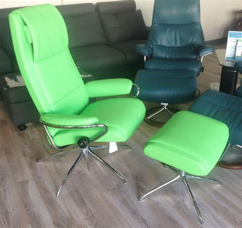 green leather and chair stressless summer green leather by ekornes