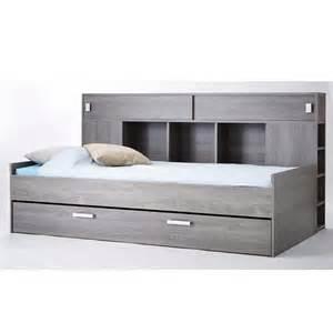lit avec environnement de rangements 90cm x 200cm couleur