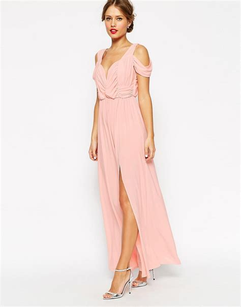 stunning cold shoulder maxi dress ideas for trendy designers collection