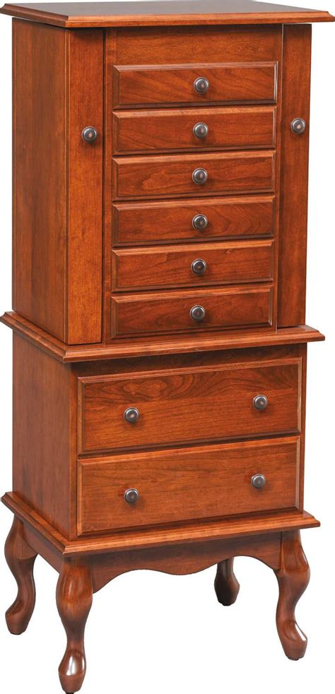 queen anne jewelry armoire bedroom armoires amish furniture by brandenberry amish