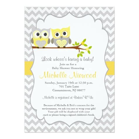 owl themed baby shower invitation template owl baby shower invitation zazzle