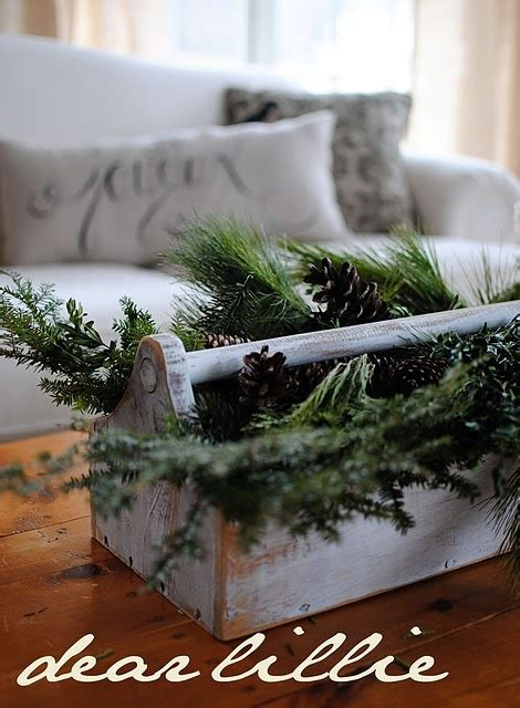 toolbox christmas centrpiece tool box centerpiece lovely rustic tool boxes the box tool box and pine
