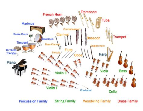 how many sections in an orchestra map of the orchestra philharmonic of southern new jersey