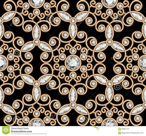 vector pattern jewelery gold jewelry diamond pattern stock vector image 58991713