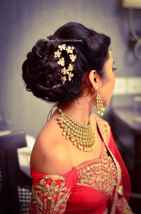 stunning reception hairstyles   indian beauty