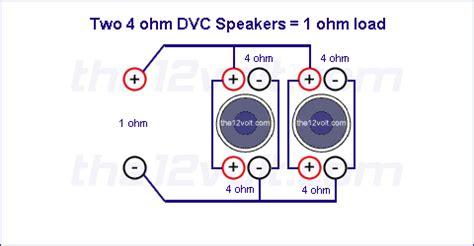 subwoofer wiring diagrams   ohm dual voice coil dvc