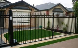 Front Yard Designs Pictures - aluminium tubular fencing panels provide low cost fencing
