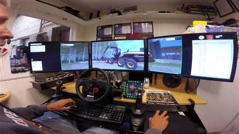 gaming setup simulator farming simulator 3x 27 quot led testing my new edition of