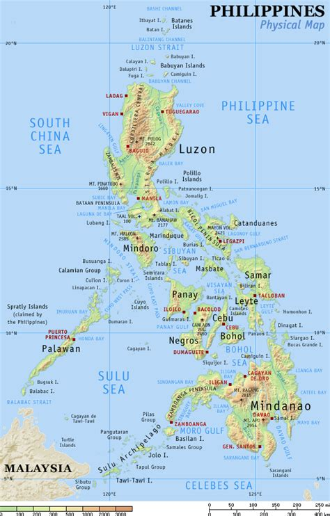 physical map of philippines philippines the islands beaches and its dialects