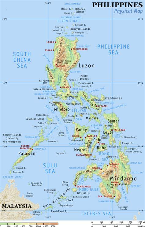 philippine map philippines maps ephilippine