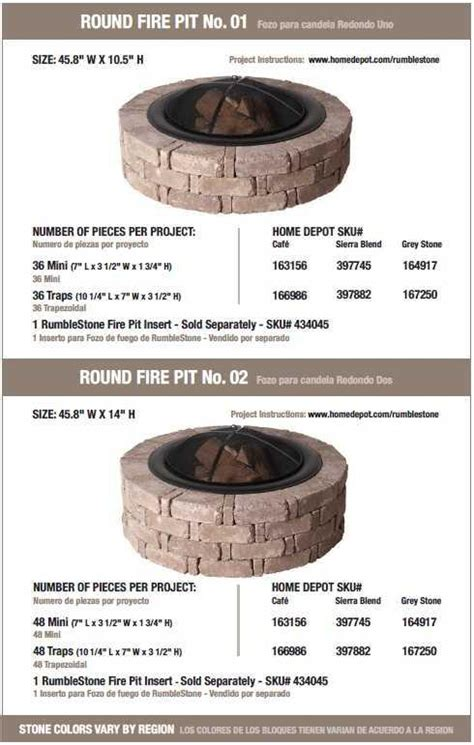 rumblestone pit firepits the home depot community