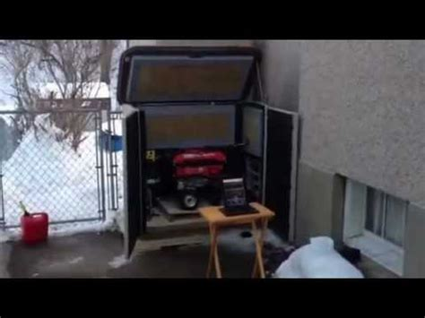 Soundproof Shed by Soundproof Generator Shed