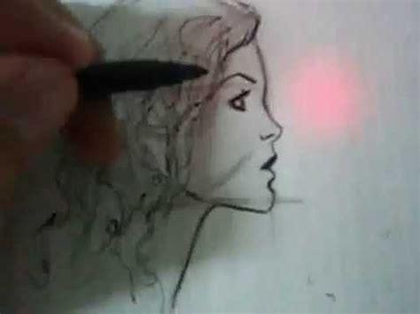 xomo sombrear la cara de una mujer como dibujar el rostro de perfil lapiz y tinta mujer