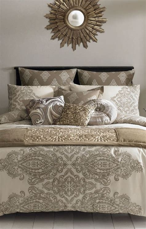 Vbm091 Blue Gold White Grey taupe bedding gold bedding and duvet covers on