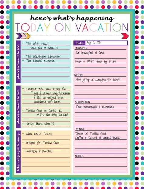 printable vacation planner calendar free printable daily and weekly vacation calendars trips