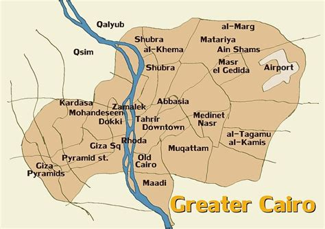 where is cairo on a map map and info about greater cairo giza and cairo