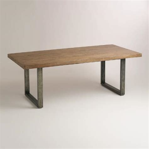 World Market Dining Table Wood And Metal Edgar Dining Table World Market