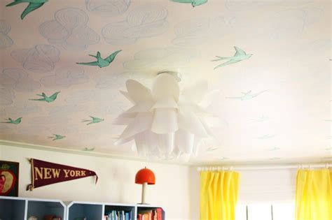 Wallpaper In Ceiling by Savvy Housekeeping 187 Wallpaper On A Nursery Ceiling