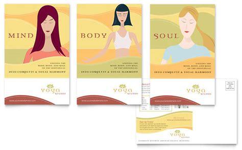 templates for yoga yoga instructor studio postcard template design