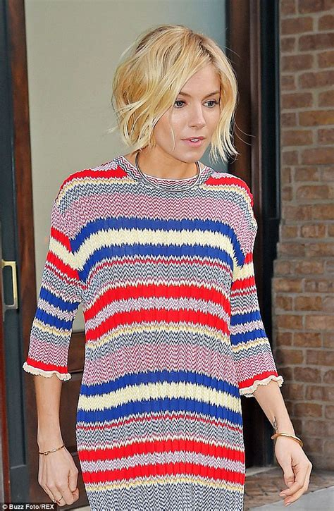 sienna miller   chic  loose sweater dress  jimmy fallon shoes post