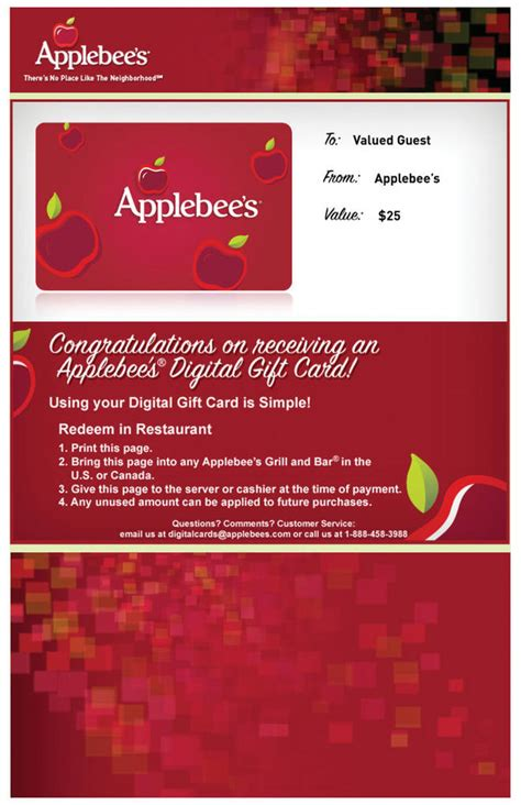 Applebees Gift Card Promotion - mod pizza coupon release date price and specs