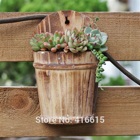 Wooden Home Decor Items by Home Decor Wall Decorations Wooden Meaty Plant Pot Wooden