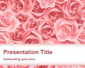 theme powerpoint rose flowers powerpoint templates