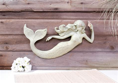 Mermaid Home Decor by 16 Quot Mermaid Wall Sculpture Decoration Nautical 3d Plaque