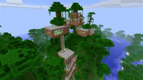 Minecraft Tree House by Baumhaus Treehouse Minecraft Project