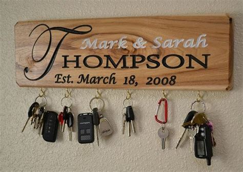 personalized sign personalized  sign key holder