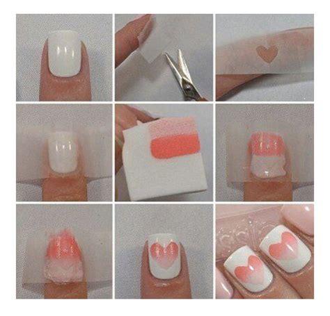 tutorial nail art gel sfumato unghie san valentino tutorial con cuori