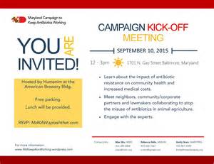Invitation Letter For Project Kick Meeting Caign Kick Meeting Details Maryland Caign To Keep Antibiotics Working