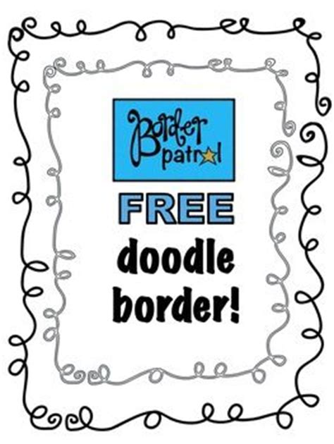 free doodle clip free doodle borders word clipart best