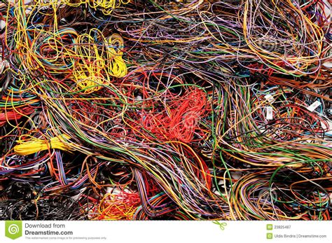 multicolored wires royalty free stock photography image
