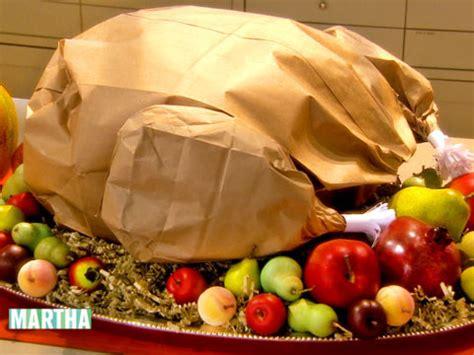 video paper bag thanksgiving turkey   martha stewart