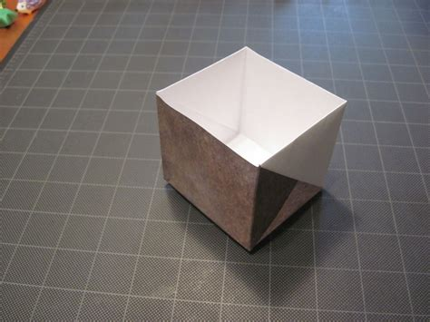Origami Paper Sizes - origami box from letter size paper