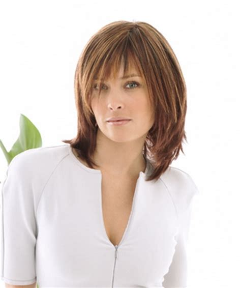 womens medium length layered razor cut hairstyle razor cut hairstyles shoulder length for women