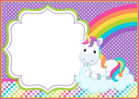 How You Can Make First Birthday Invitations Special Unicorn Invitations Free Template