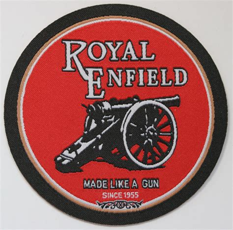 royal enfield iron  patch woven motorcycle vintage