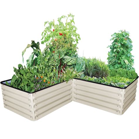 Raised Vegetable Garden Beds Bunnings Birdies 6 In 1 Paperbark L Shape Modular Raised Garden Bed