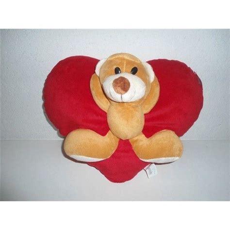 cuscino per san valentino peluche cuscino cuore con orsetto san valentino ebay