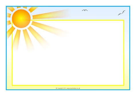weather themed  page borders landscape