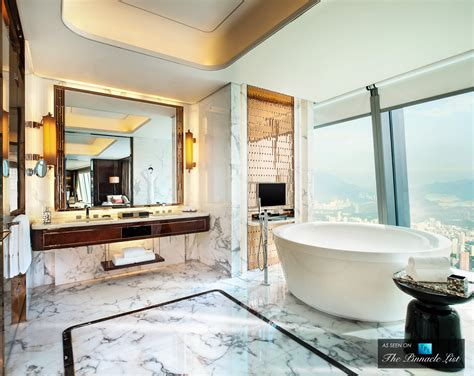 high end bathroom suites luxury modern bathroom suite with bath and wc stock photo