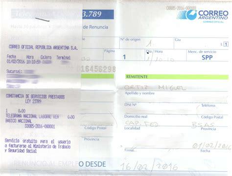 telegrama de renuncia correo argentino taringa telegrama de renuncia viajar a argentina hoy