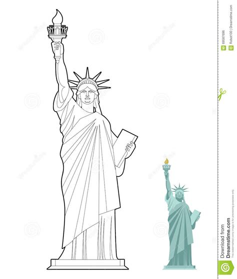the statue of liberty symbol stock vector 169 coloring statue coloring pages
