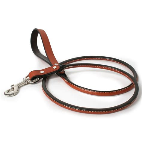 puppy leash age rolled leather leash