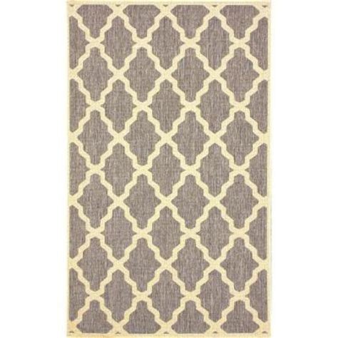 11 X 14 Outdoor Rug by Nuloom Moroccan Trellis Grey 9 Ft 11 In X 14 Ft