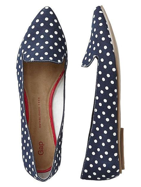Flatshoes Polkadot gap navy and white polka dot pointy toe flats kate middleton went to gap here s what she